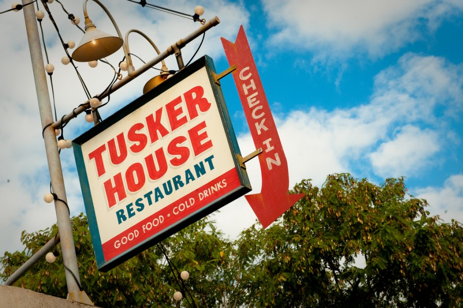 tusker house sign